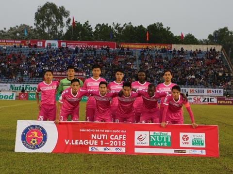 CLB Sài Gòn bị sứt mẻ rất nhiều về lực lượng so với mùa giải trước. Ảnh: VPF