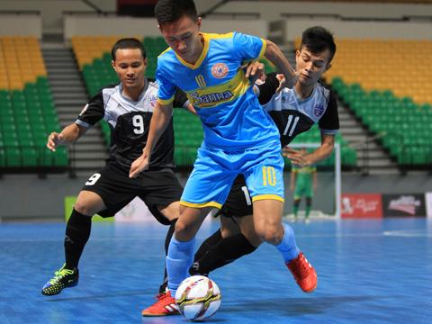 Sanna Khánh Hòa đang có thành tích khá tốt ở giải futsal CLB châu Á 2017. Ảnh: Vương Anh