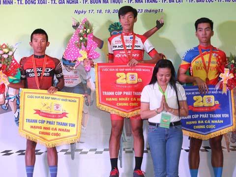 Trần Thanh Điền lấy Áo vàng với chỉ 2 giây nhiều hơn tay đua Trần Lê Minh Tuấn. Ảnh: B.M