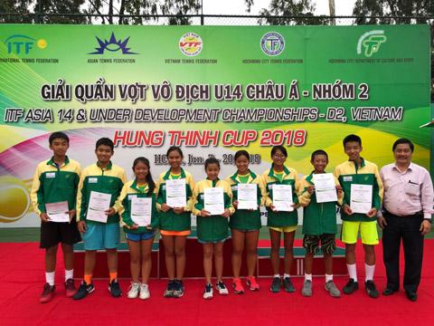 U14 Việt Nam sẽ được thăng hạng nhóm 1 châu Á 2019 với thành tích vô địch U14 nhóm 2 châu Á 2018. Ảnh: BM