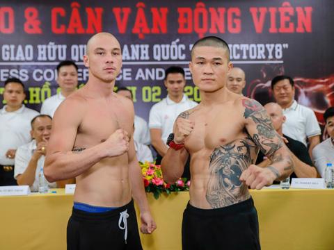 Nhà vô địch SEA Games Trương Đình Hoàng (phải) sẽ chạm trán đối thủ rất mạnh người Australia Mateo tối 3/11. Ảnh: BM