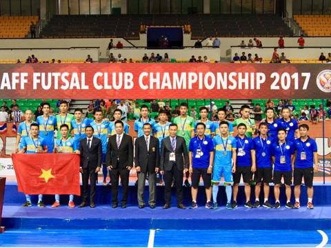 Sanna Khánh Hòa chấp nhận ngôi Á quân tương tự Thái Sơn Nam ở giải đấu CLB hàng đầu khu vực. Ảnh: Vương Anh