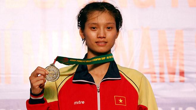 Việt Nam chỉ có 1 HCV giải boxing nữ vô địch châu Á 2017
