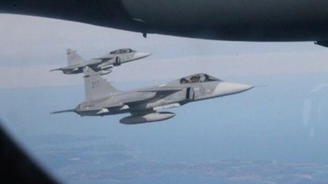 Máy bay của Bộ trưởng Quốc phòng Nga bất ngờ bị tiêm kích NATO áp sát