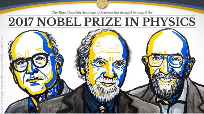 Nobel Vật lý 2017 vinh danh công trình nghiên cứu Đài quan trắc hai 'hố đen va chạm vào nhau'