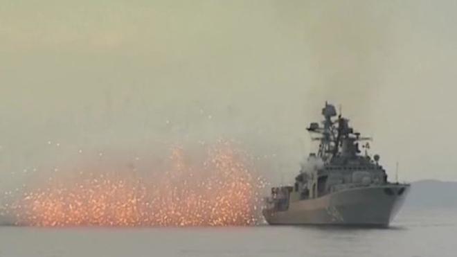 VIDEO Hải quân Nga tập trận tên lửa qui mô lớn trên Biển Nhật Bản