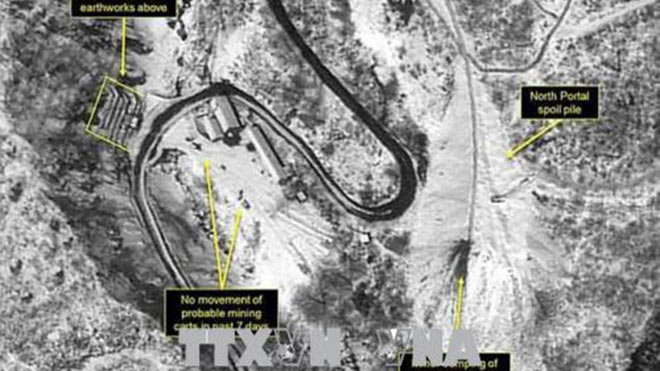 Triều Tiên thông báo thời điểm dỡ bỏ bãi thử hạt nhân Punggye-ri