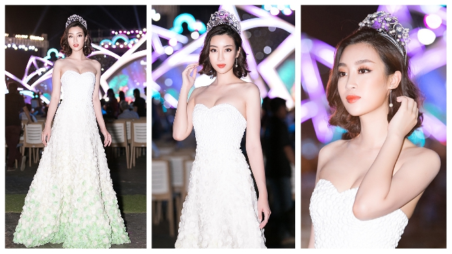 Đỗ Mỹ Linh 'gây thương nhớ' trong đêm thi bikini và áo dài Hoa hậu Việt Nam 2018