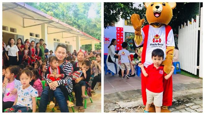 Ca sĩ Tùng Dương xa con ngày khai giảng đến khánh thành trường học ở vùng xa