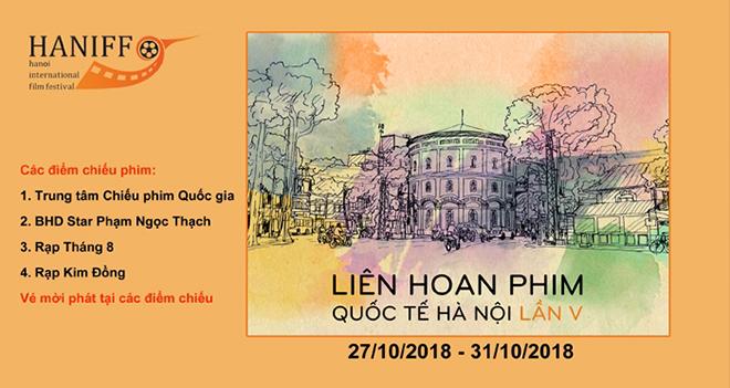 Lịch chiếu phim Liên hoan phim Quốc tế Hà Nội từ 27-31/10