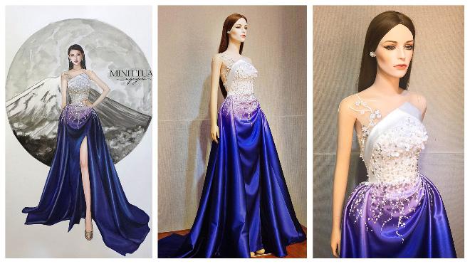 Chung kết Hoa hậu Quốc tế 2018: Thùy Tiên mê hoặc khán giả với chiếc đầm dạ hội tuyệt đẹp
