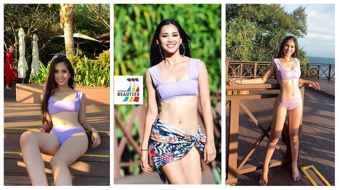 Trần Tiểu Vy diện bikinitự tinkhoe body nóng bỏng tạiMiss World 2018