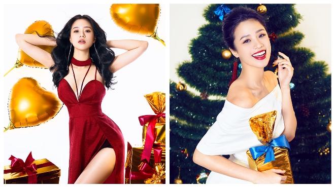 Người đẹp Biển Nguyễn Hoàng Bảo Châu ngọt ngào, quyến rũ đón Noel