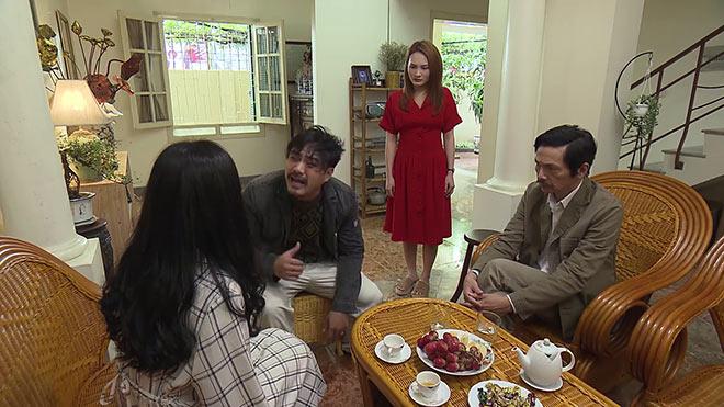 'Về nhà đi con' tập 33: Khải say rượu tới phá hôn nhân Thư và Vũ, định đánh Huệ trước mặt ông Sơn
