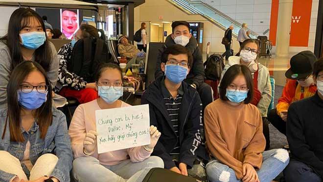 Lãnh sự quán Việt Nam tại Mỹ hỗ trợ đưa các công dân bị mắc kẹt tại sân bay Dallas về nước