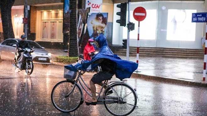 Đêm 2/3, Bắc Bộ có mưa rào và dông, đề phòng lốc, sét, mưa đá và gió giật mạnh