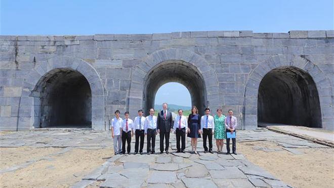 Khánh thành dự án tu sửa mái vòm và bảo tồn cổng thành phía NamThành Nhà Hồ