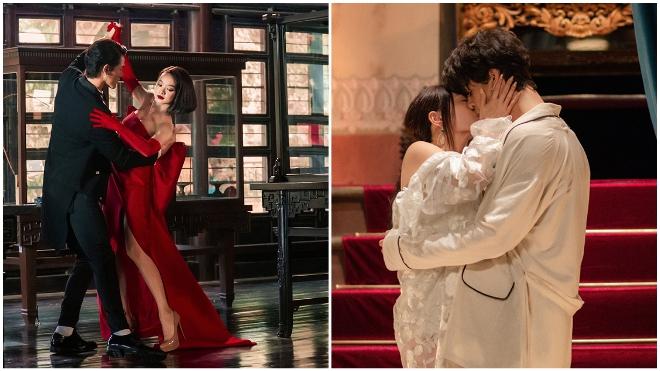 'Gái già lắm chiêu V' hé lộ nụ hôn cháy bỏng của Kaity Nguyễn và Khương Lê