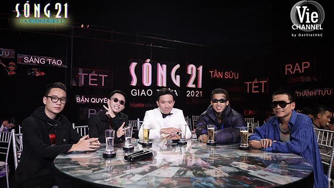 JustaTee, Rhymastic, Wowy cùng đội quân 'Rap Việt' hội ngộ tại 'Sóng 21' đêm Giao thừa