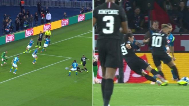 SỐC: Cavani cố tình tắc bóng, ngăn không cho Neymar ghi bàn