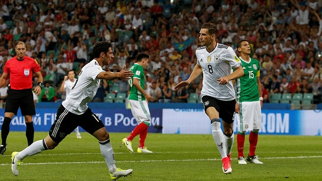 Đức 4-1 Mexico: Goretzka lập cú đúp, dàn sao trẻ Đức thẳng tiến vào Chung kết gặp Chile