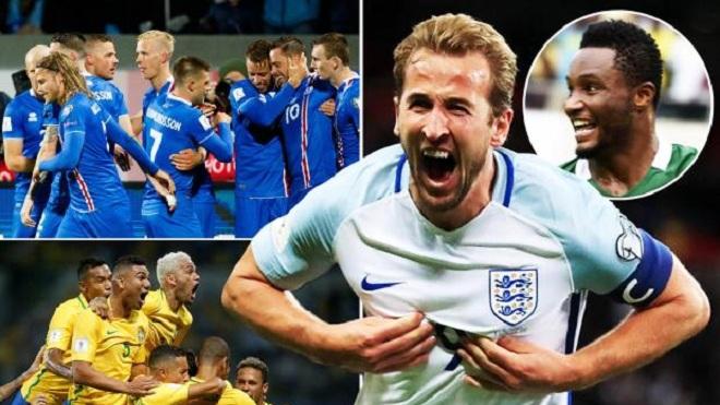Tuyển Anh có thể gặp Đức, Brazil hoặc Argentina ngay ở vòng bảng World Cup 2018