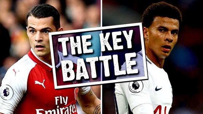Đại chiến Arsenal - Tottenham: Xhaka không thể so được với Alli