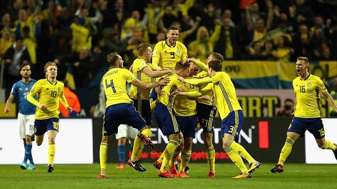 Video clip highlights bàn thắng trận Thụy Điển 1-0 Italy