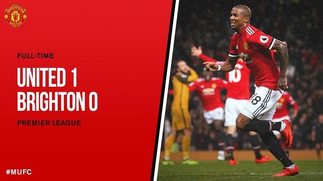 M.U 1-0 Brighton: Ashley Young lập công, M.U thắng trên sân nhà