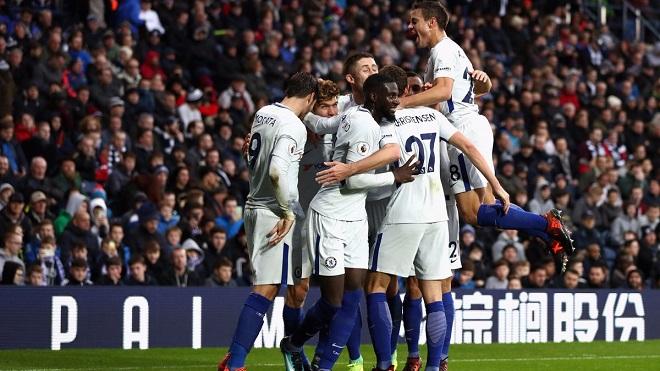 Video clip highlights bàn thắng trận West Brom 0-4 Chelsea