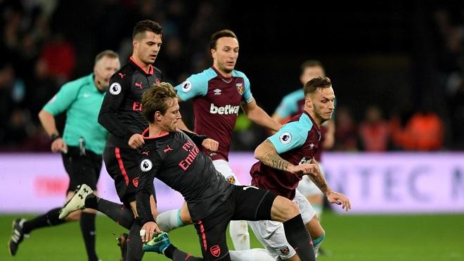 Video highlights West Ham 0-0 Arsenal: Pháo thủ xuống thứ 7, ngoạn mục David Moyes