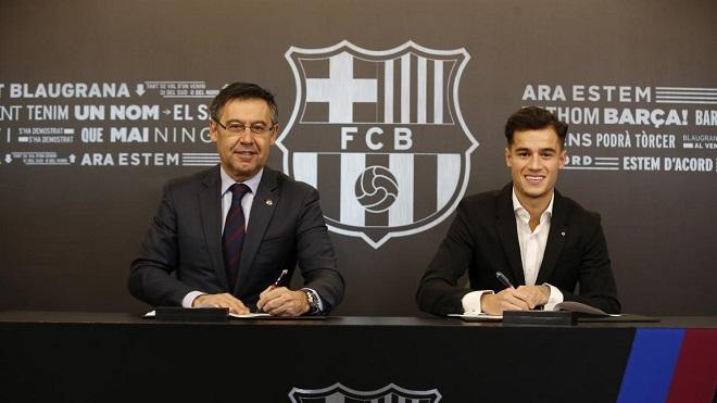 Coutinho mang 'hung tin' cho Barcelona trong ngày chính thức kí hợp đồng