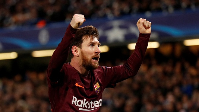 Fan phát cuồng sau khi Messi ghi bàn vào lưới Chelsea