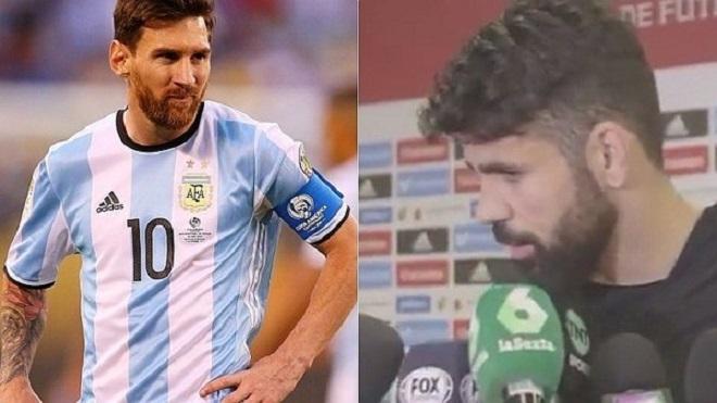 Diego Costa và Sergio Ramos khiến Argentina cay đắng với phát biểu về Messi