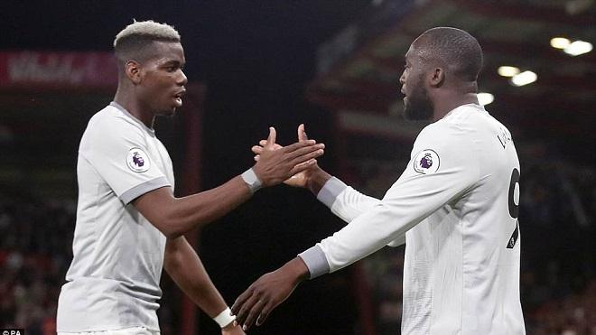 Video bàn thắng Bournemouth 0-2 M.U: Lukaku nổ súng, Paul Pogba bùng nổ