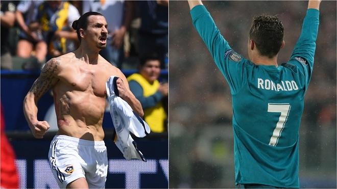 Ibra: 'Bàn của Ronaldo đẹp đấy, nhưng cậu ta nên thử thực hiện từ xa 40m'