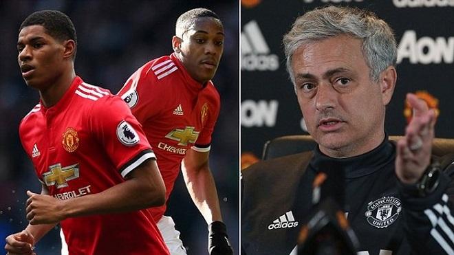 Mourinho: 'Tôi chẳng thể làm gì hơn cho Rashford và Martial, trừ khi một đội chỉ có 11 cầu thủ'