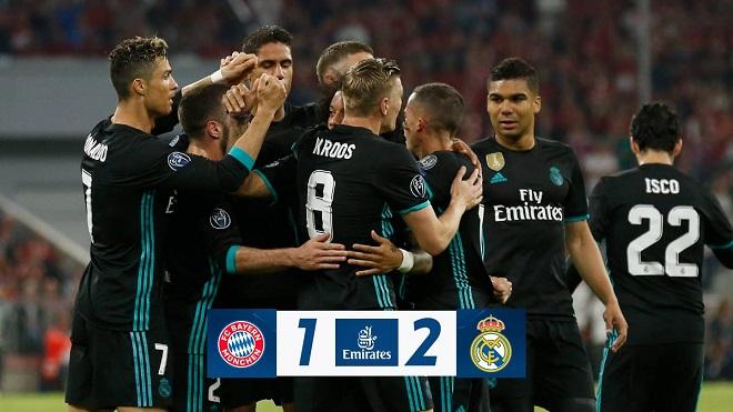 Bayern Munich 1-2 Real Madrid: Marcelo và Asensio tỏa sáng, Real ngược dòng