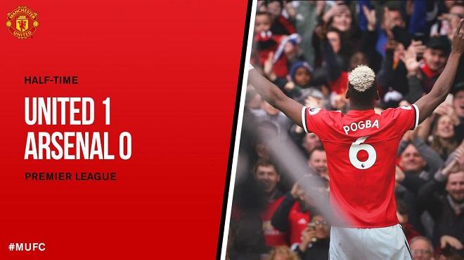 M.U 2-1 Arsenal: Fellaini và Pogba tỏa sáng, 'Quỷ đỏ' giành 3 điểm trên sân nhà