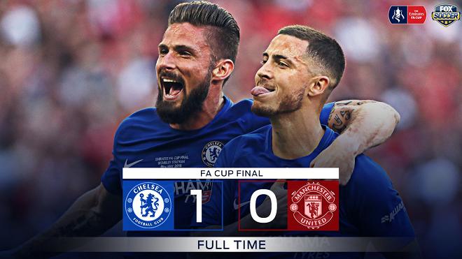 Video clip bàn thắng Chelsea 1-0 M.U: Eden Hazard trở thành người hùng. Chelsea vô địch FA Cup
