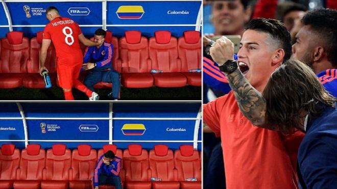 James Rodriguez nước mắt lệ nhòa, được Henderson tới an ủi