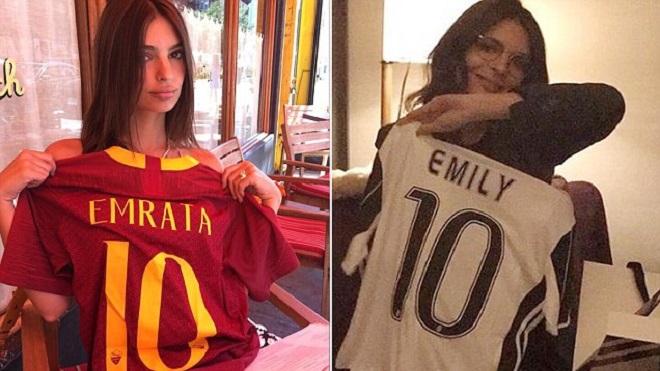 Siêu mẫu nội y 'Nữ hoàng thành Rome' gây tranh cãi vì mặc cả áo Juve lẫn Roma