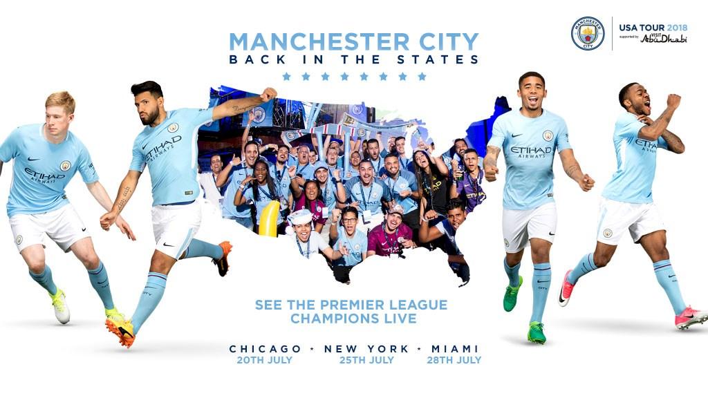 Lịch thi đấu giao hữu Hè 2018 của Man City (giờ Việt Nam)