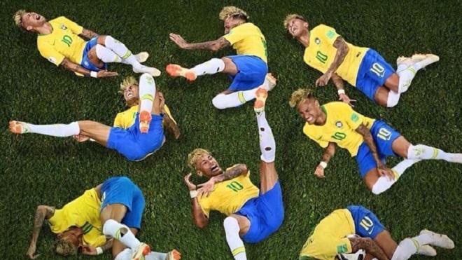 Chết cười với clip chế Neymar ăn vạ ở World Cup 2018