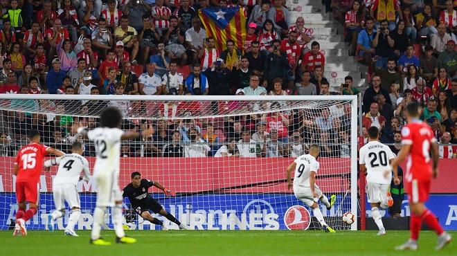 Video clip bàn thắng Girona 1-4 Real Madrid: Cú đúp của Benzema giúp Real giành ngôi đầu