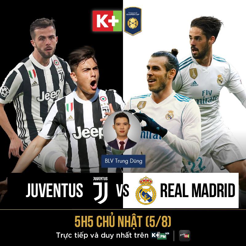 Link xem trực tiếp trận Real Madrid vs Juventus. Trực tiếp bóng đá