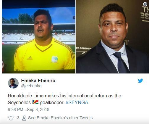 Thủ môn châu Phi gây sốt vì có thể hình như Ronaldo béo