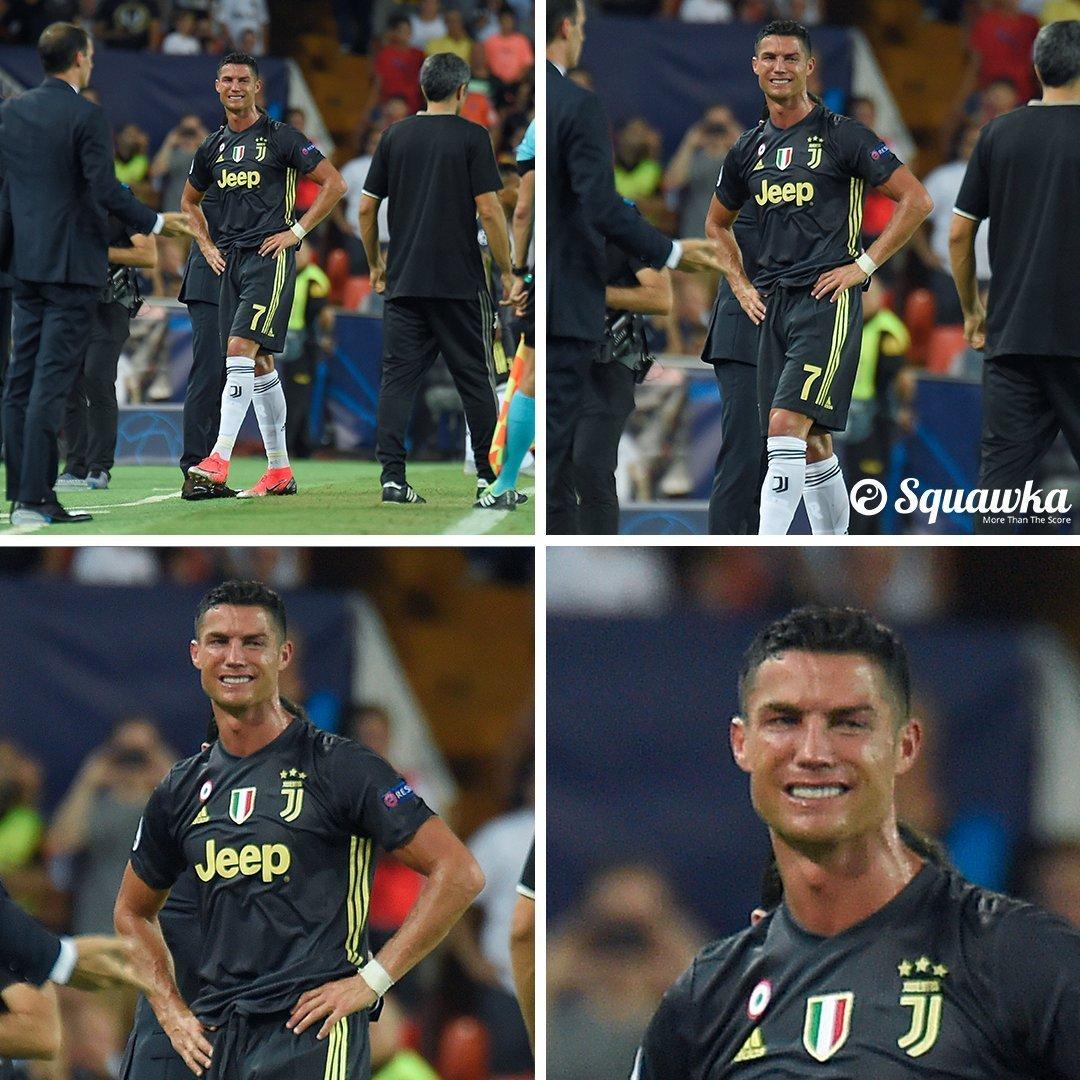 Video Ronaldo nhận thẻ đỏ, khóc lóc, Juventus thắng Valencia 2-0. Clip Cúp C1