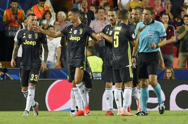 Cristiano Ronaldo, thẻ đỏ, Ronaldo bị đuổi, Juventus, Valencia, Cúp C1, Champions League, Valencia 0-2 Juventus, video Ronaldo nhận thẻ đỏ, video bàn thắng Cúp C1
