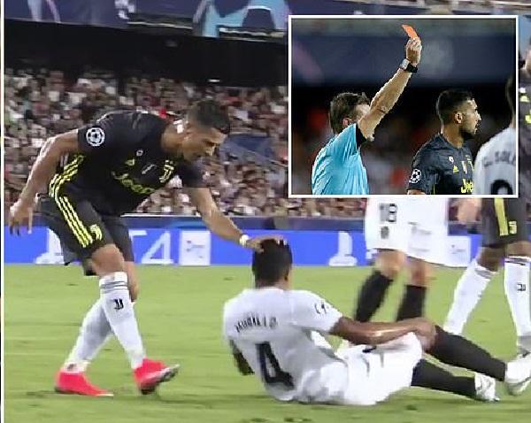 Video clip Cristiano Ronaldo nhận thẻ đỏ. Ronaldo dính thẻ đỏ ở Champions League